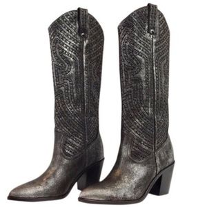 Frye studded western boots